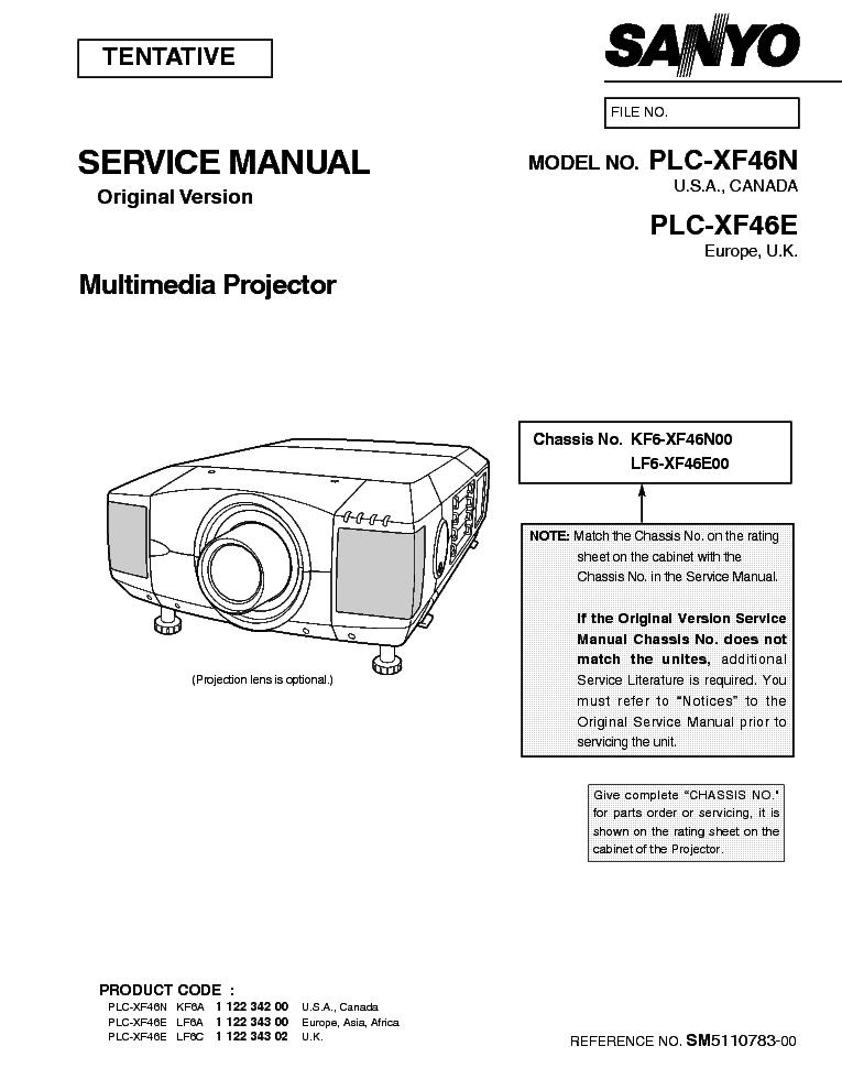 Sanyo Service manual Xf46