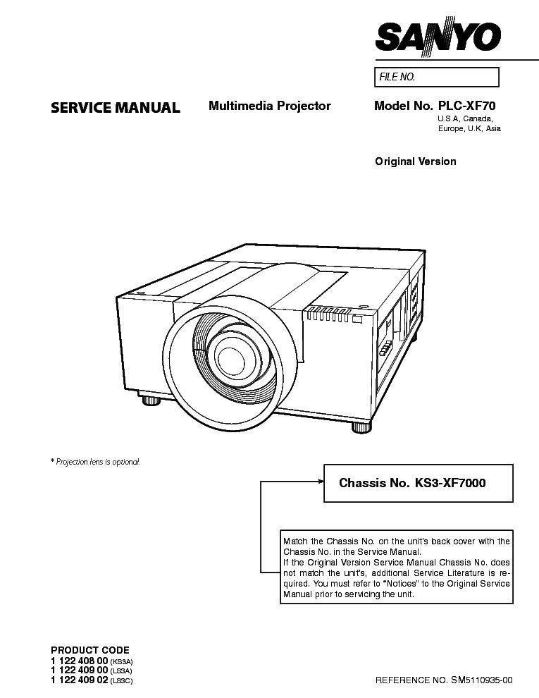 sanyo plc xf70 sm service manual download schematics eeprom rh elektrotanya com