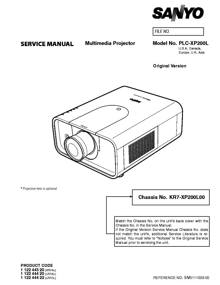 sanyo plc xp200l sm service manual download schematics eeprom rh elektrotanya com