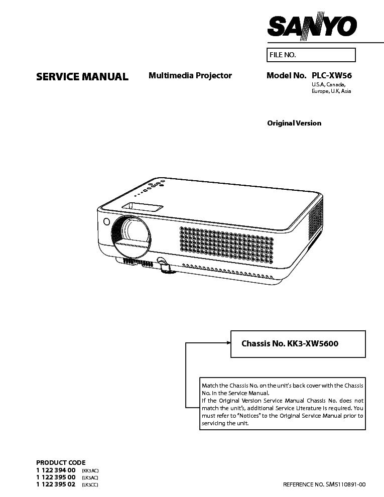 sanyo plc xw56 sm service manual download schematics eeprom rh elektrotanya com Sanyo Pro Xtrax Multimedia Projector Troubleshoot Sanyo XGA Projector