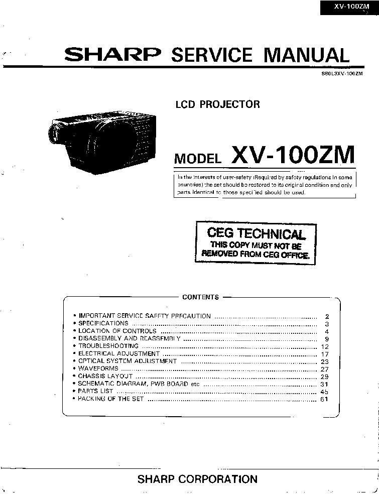 Sharp LC40LE240EV Service Manual