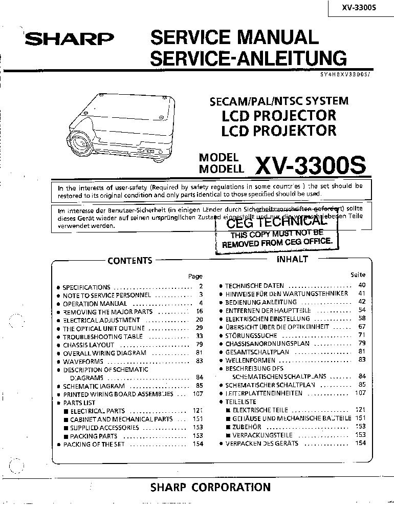 sharp xv 3300s service manual download schematics eeprom repair rh elektrotanya com