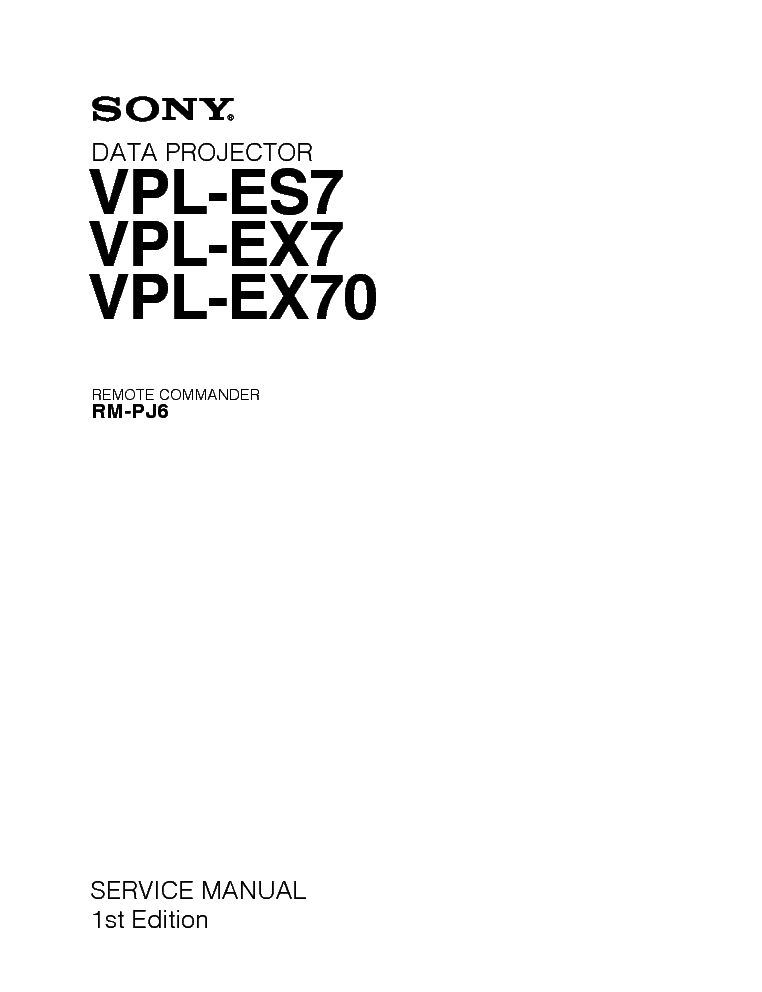 sony vpl es7 ex7 ex70 service manual download schematics eeprom rh elektrotanya com
