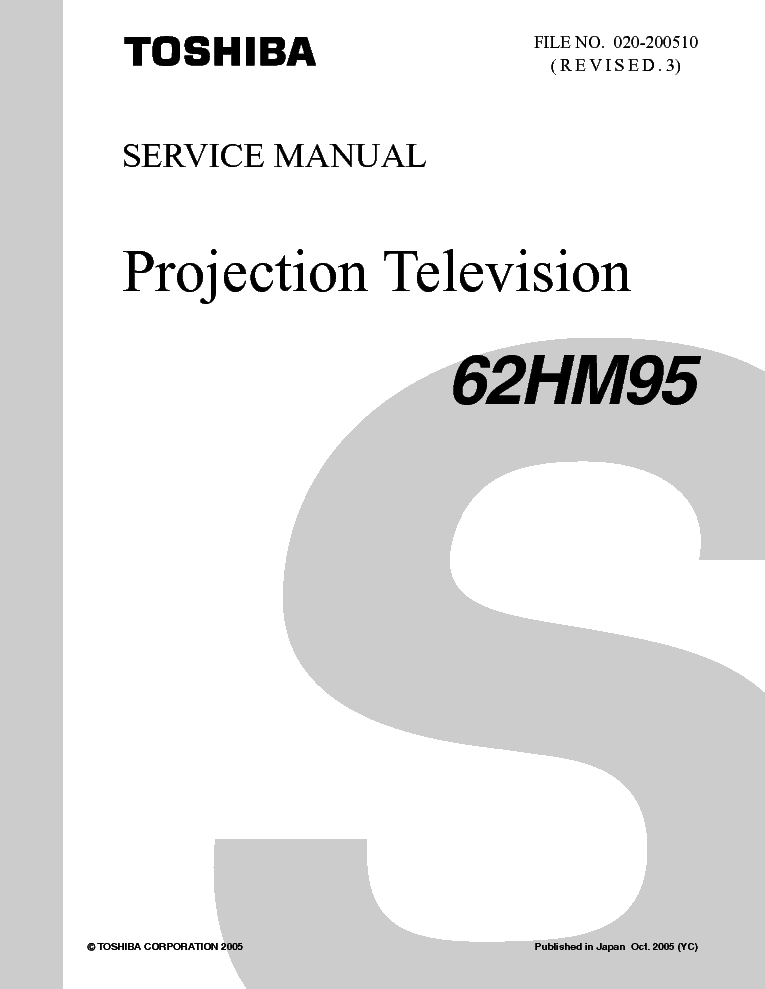 toshiba 62hm95 service manual download schematics eeprom repair rh elektrotanya com Toshiba 62HM95 Optical Engine Cooling Fan for Toshiba 62HM95