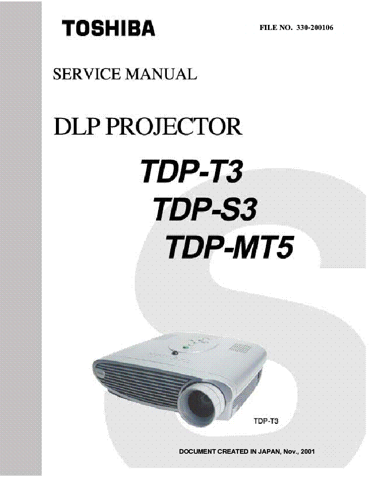 toshiba dlp projector tdp t3 s3 mt5 service manual download rh elektrotanya com Toshiba LCD Manual Toshiba Satellite Service Manual