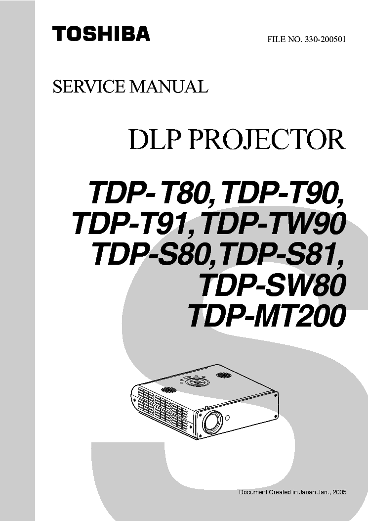 toshiba t80 t90 t91 tw90 mt200 s80 s81 sw80 service manual download rh elektrotanya com Toshiba DLP Projection TV Toshiba DLP Projection TV
