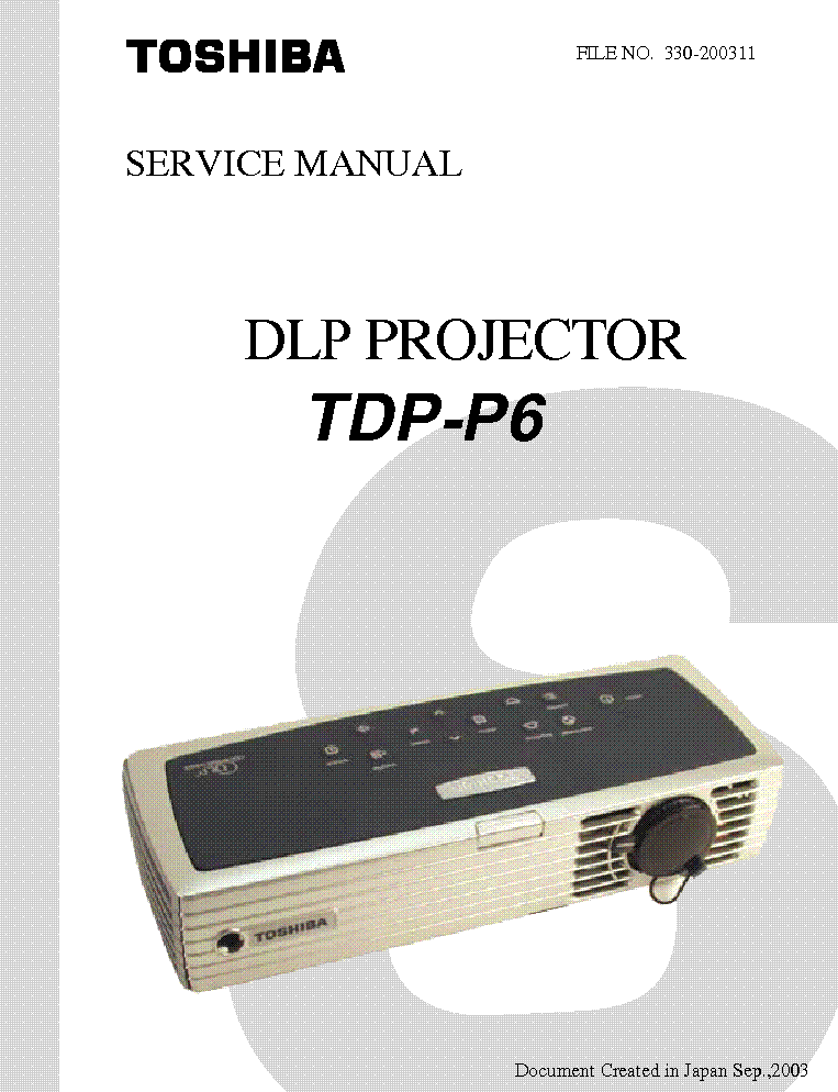 toshiba dlp projector tdp t3 s3 mt5 service manual download rh elektrotanya com Toshiba DLP TV Toshiba 62HM15A DLP Projection TV