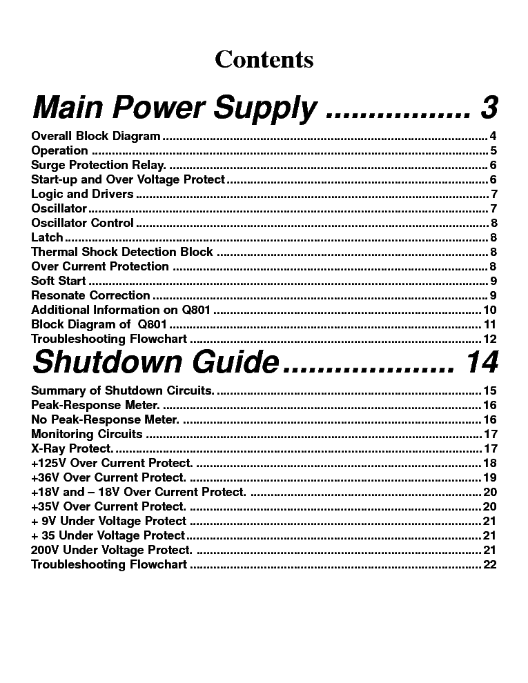 TOSHIBA TP43H60 POWER-SUPPLY Service Manual download