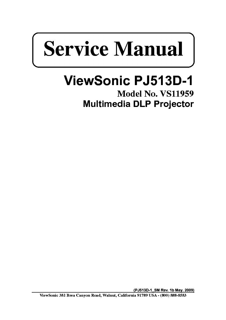 viewsonic n3251w service manual