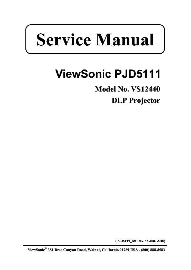 viewsonic pjd5111 vs12440 service manual download schematics rh elektrotanya com viewsonic va1916w service manual viewsonic service manual