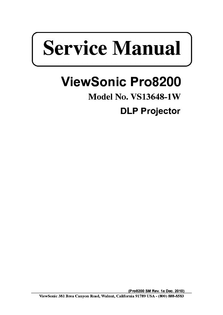viewsonic pro8200 sm 1a service manual download schematics eeprom rh elektrotanya com viewsonic pro8200 service manual viewsonic n3260w service manual