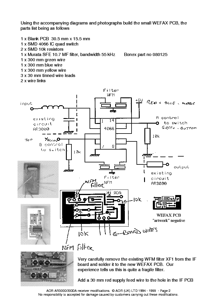 AOR AR3000A PLUS MODIFICATIONS Service Manual download, schematics