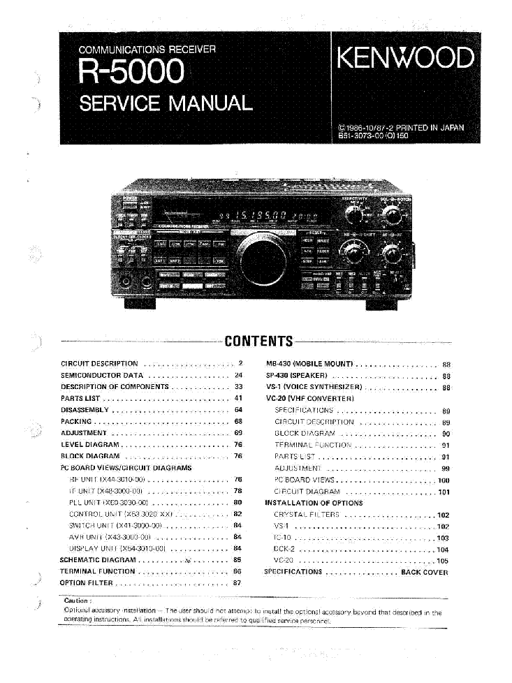 kenwood r 5000 service manual download schematics eeprom repair rh elektrotanya com Kenwood R 1000 Mod Kit Kenwood Shortwave Receivers