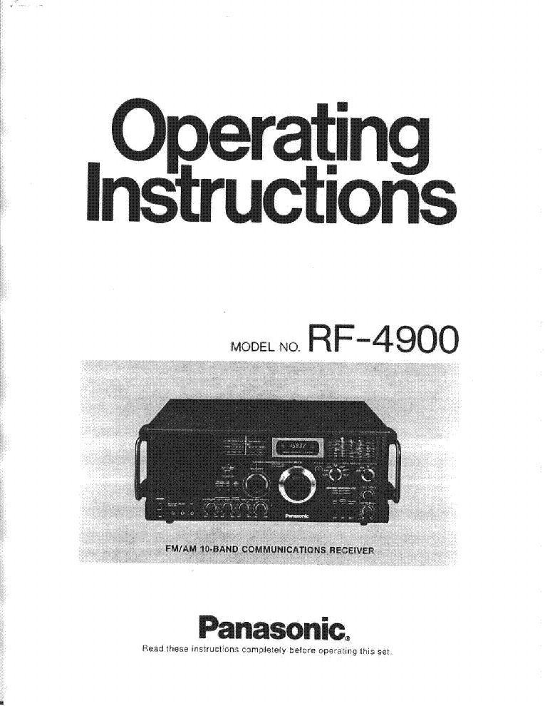 panasonic_rf_4900_operating_instruction.pdf_1 panasonic rf 4900 operating instruction service manual download Panasonic RF 2600 Manual at bakdesigns.co