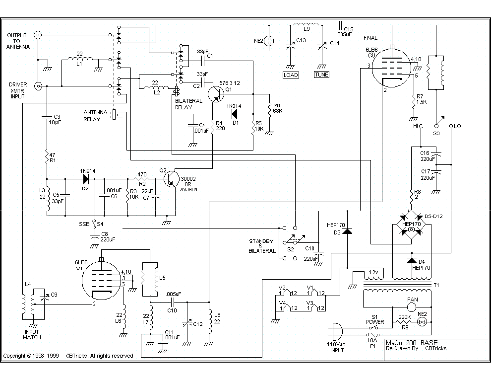 ham radio pre amp schematic diagram