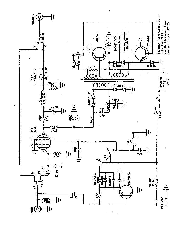 Palomar Amplifier Service Manuals