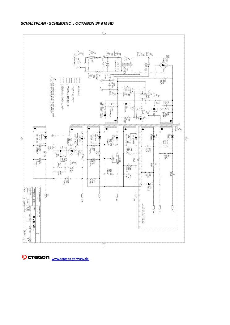OCTAGON SF918 HD SAT SMPS SCH Service Manual download, schematics ...
