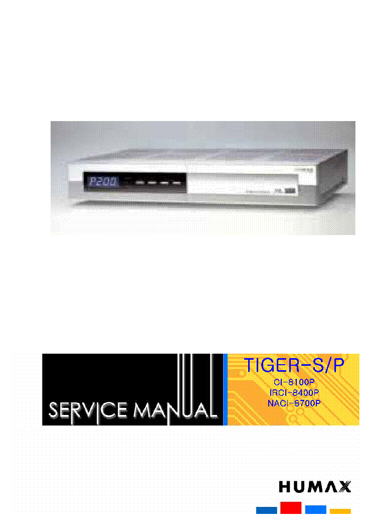 HUMAX CI-8100P-HDD Service Manual download, schematics, eeprom