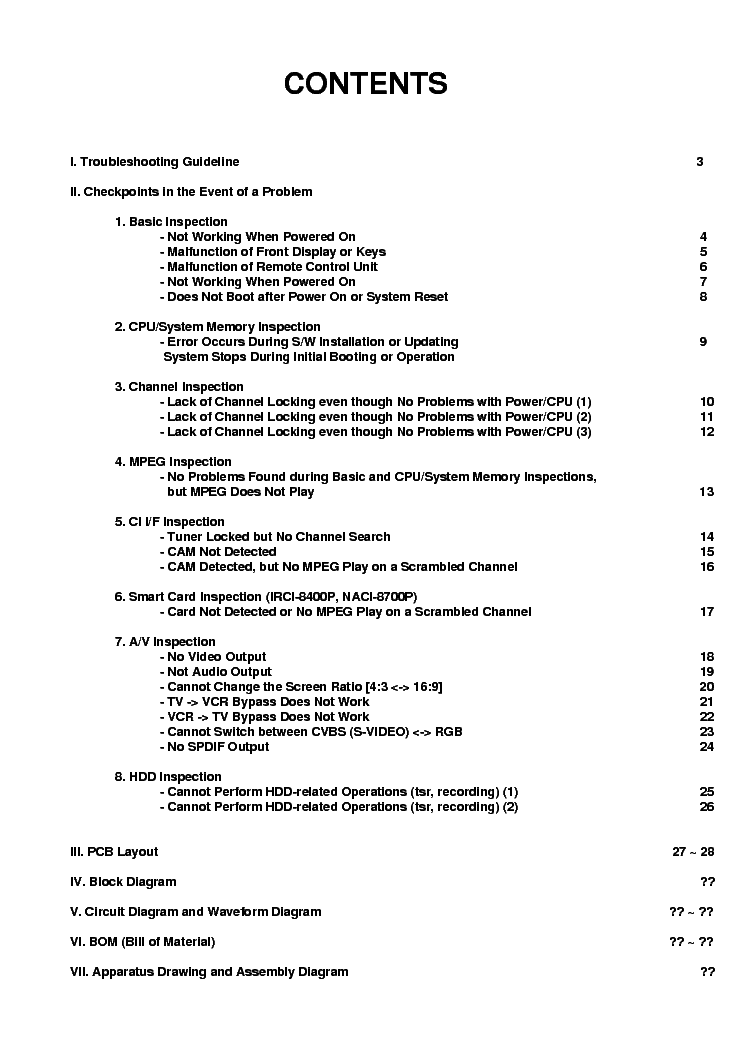 HUMAX CI-8100P-HDD Service Manual download, schematics