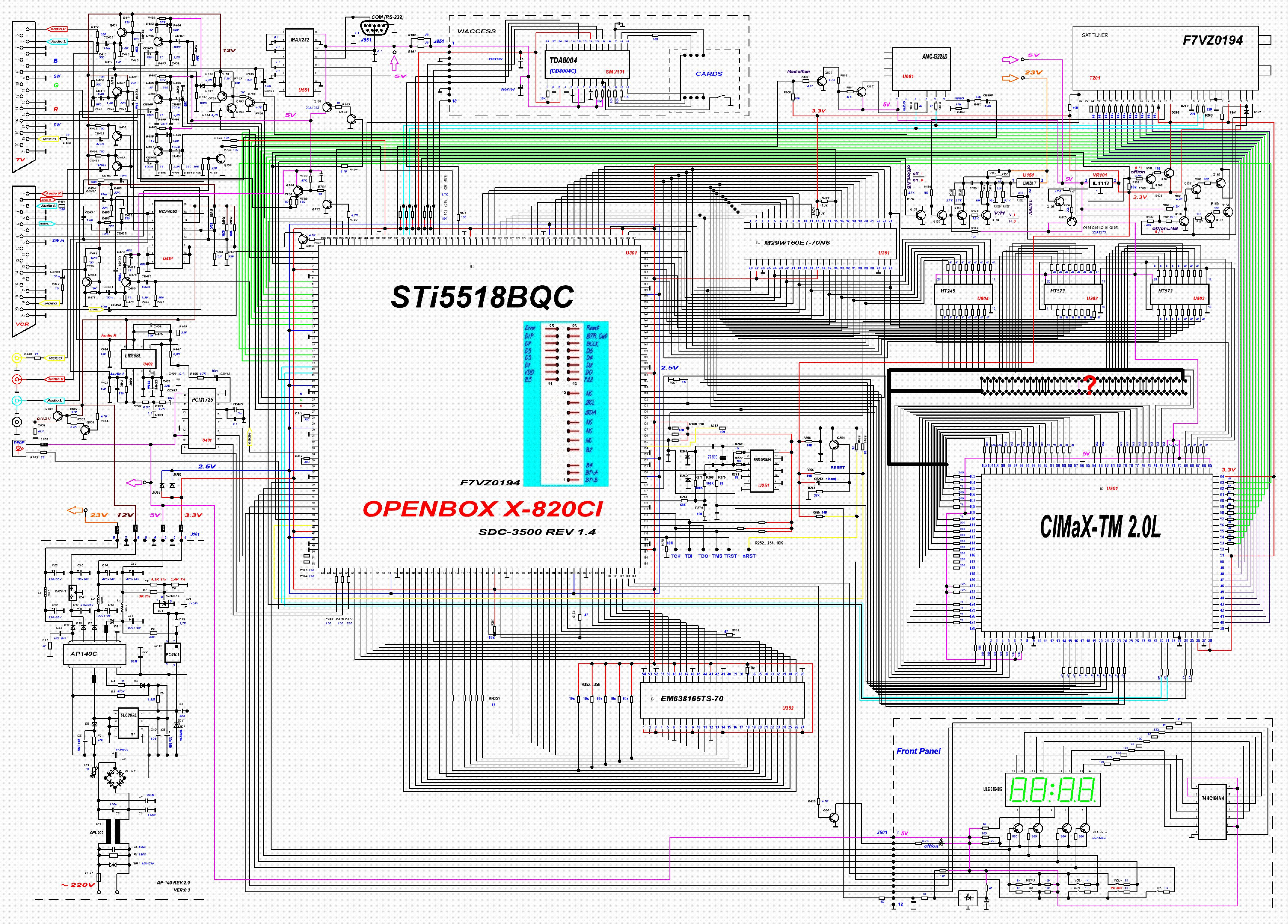 схема openbox x820ci