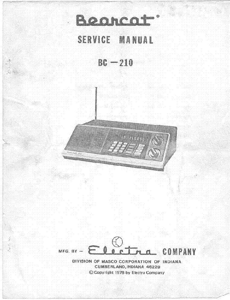 electra bearcat bc 210 sm service manual download schematics rh elektrotanya com Bearcat 210 Xlt Manual Bearcat Scanners Schematics