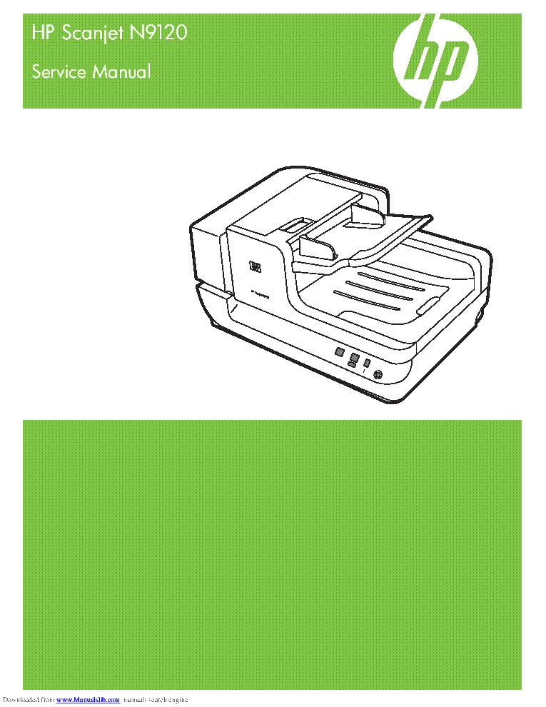 Hp scanjet n9120 printers service manual service manuals.