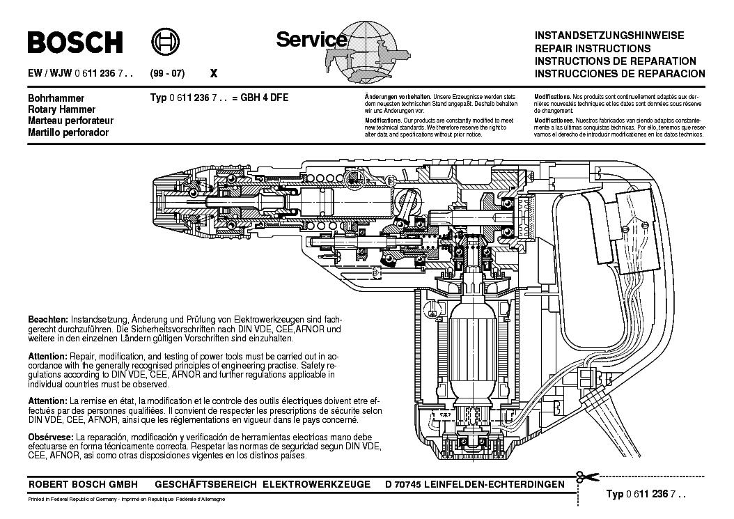 bosch gbh 4 dfe type 0 611 236 7 service manual download schematics rh elektrotanya com bosch repair manual washing machine bosch vp44 repair manual