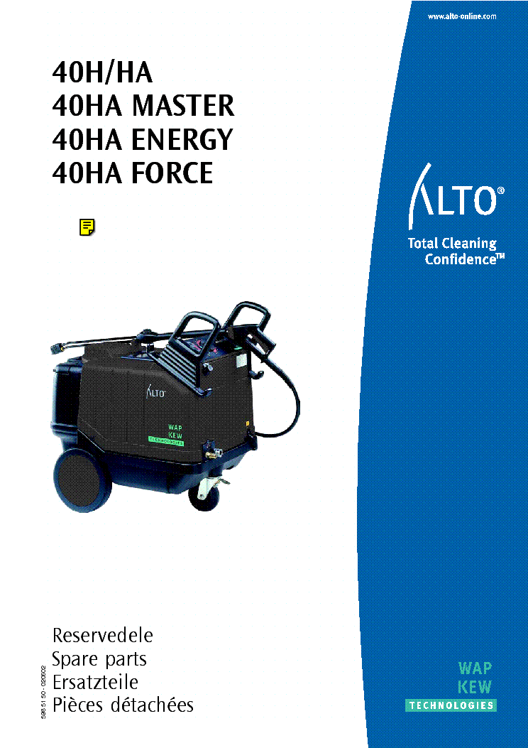 Alto Wap Kew 40h Ha Master Energy Force Pressure Washer Sm