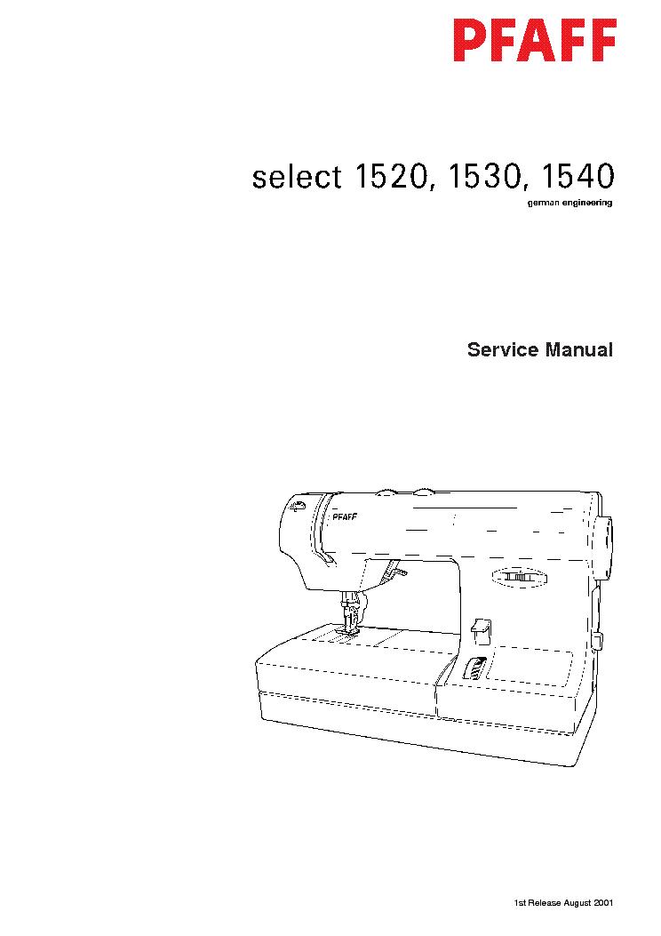 pfaff 1520 1530 1540 sewing machine sm service manual download rh elektrotanya com Pfaff 360 Instruction Manual Pfaff Sewing Machine Parts