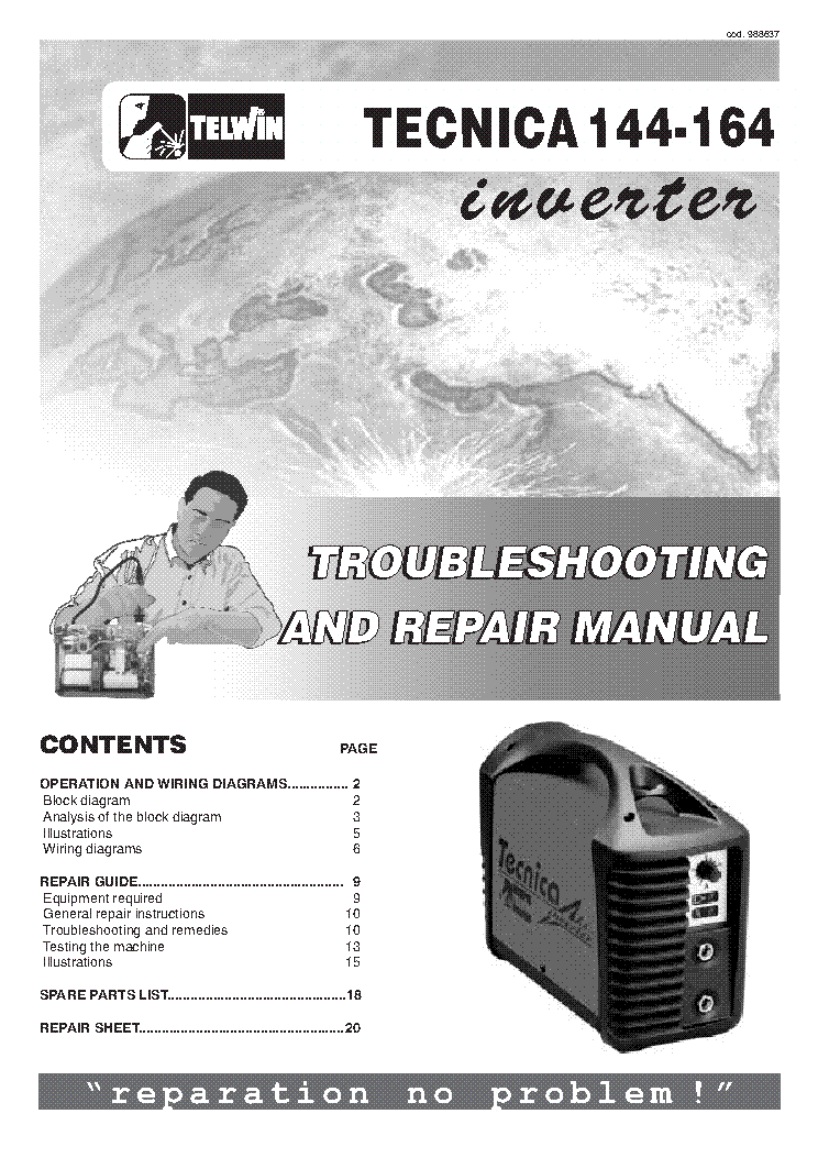 TELWIN TECNICA 144-164 WELDING-INVERTER SM service manual