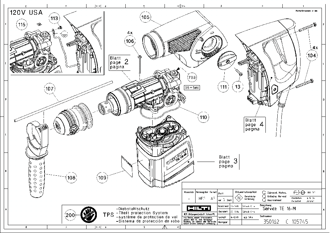 Hilti Te16m Sch Service Manual Download Schematics