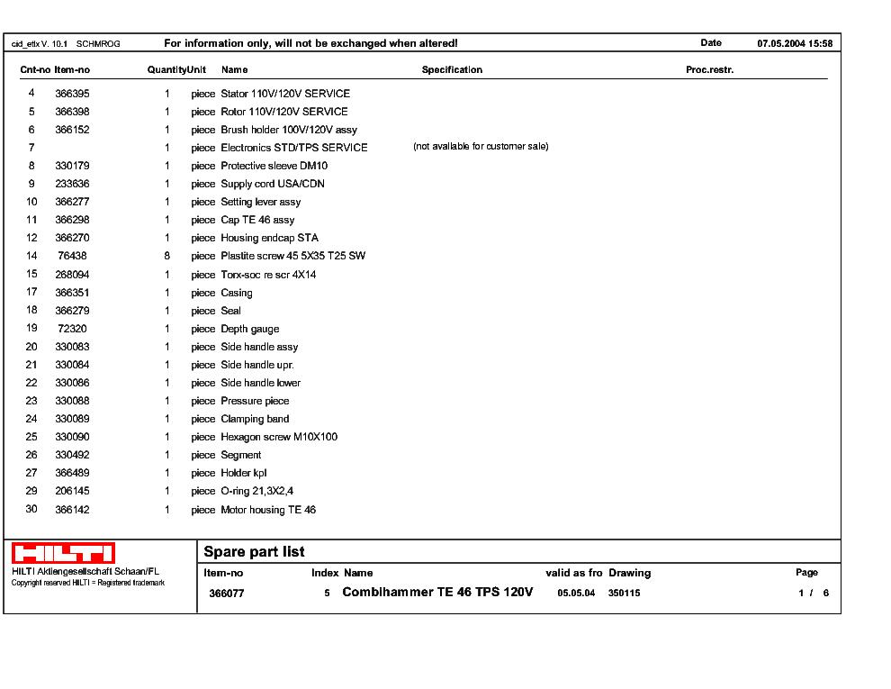 hilti te72 service manual download schematics eeprom repair info rh elektrotanya com hilti te 72 parts manual hilti te 72 service manual