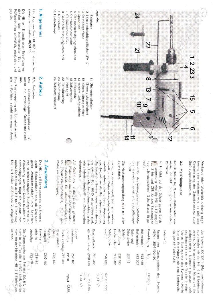 MANSFELD DDR HANDBOHRMASCHINE 10 E H B Service Manual download