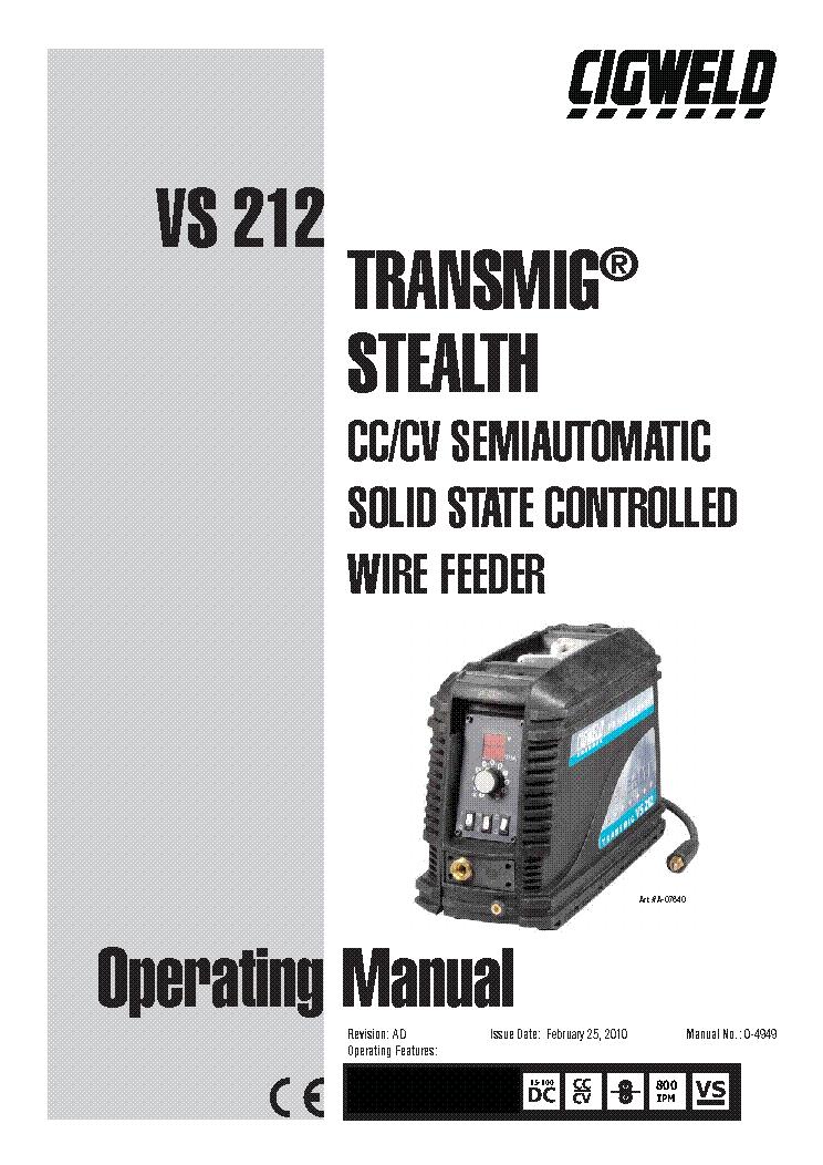 cigweld transmig 165 turbo manual