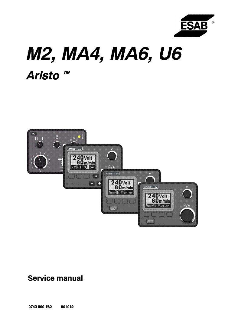 ESAB ARISTO M2 MA4 MA6 U6 CONTROL-PANEL Service Manual download ...