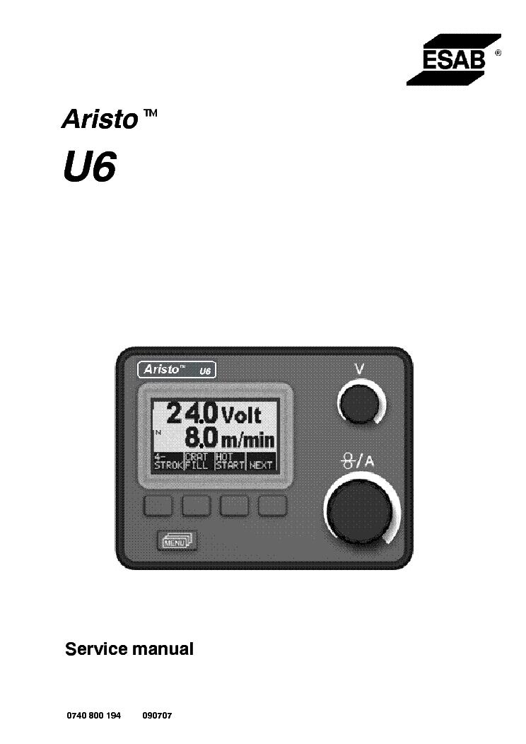 ESAB ARISTO U6 CONTROL-PANEL Service Manual download, schematics ...