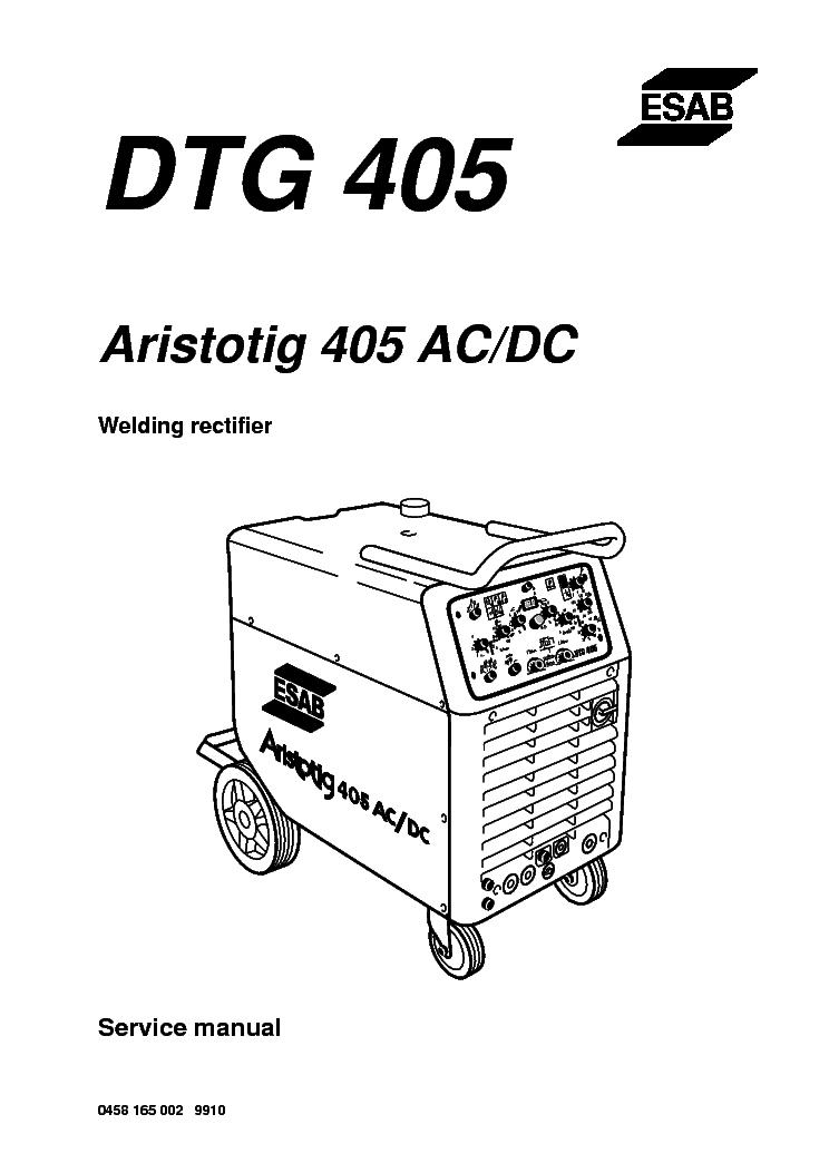 Esab caddy tig 2200i ac/dc manuals.