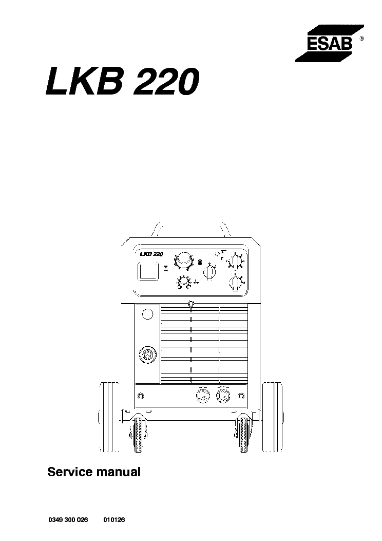 esab lkb 220 service manual download schematics eeprom repair rh elektrotanya com Mig Welder Mig Welding