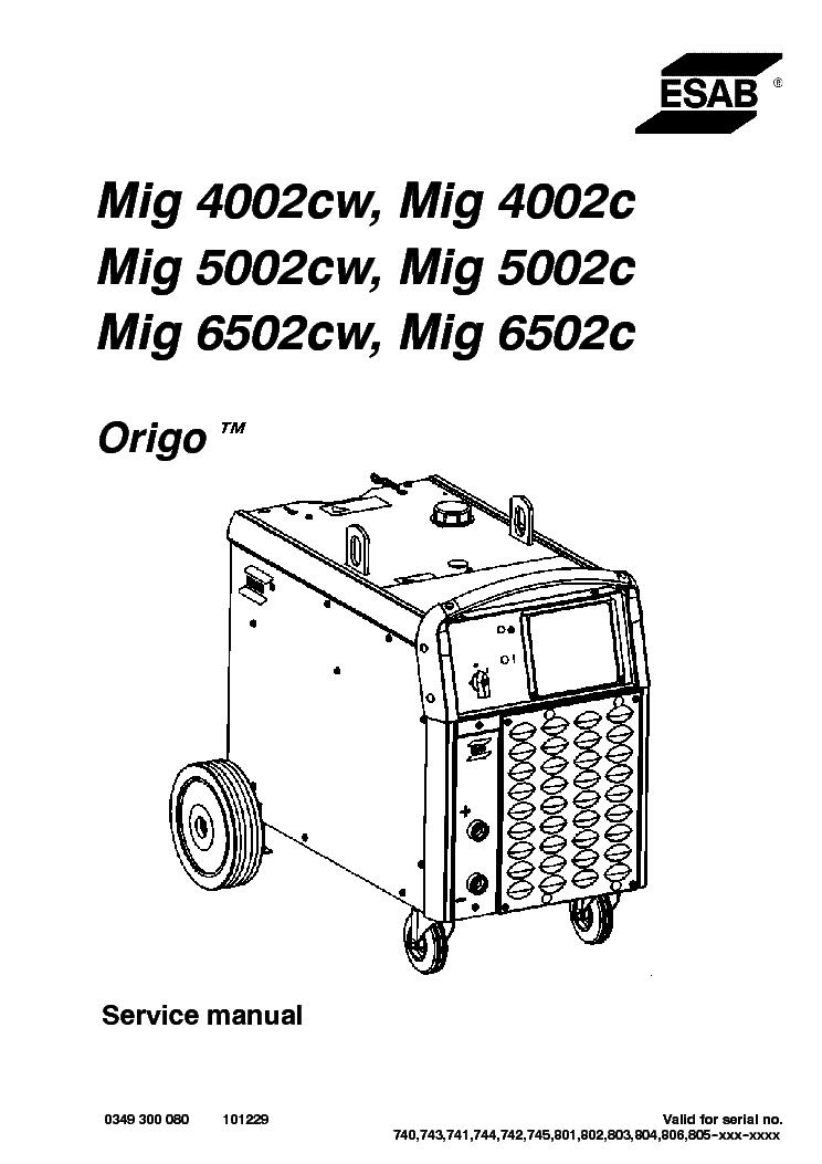 esab mig 4002 5002 6502 c cw sm service manual download schematics rh elektrotanya com Mig Welding Mig Welder