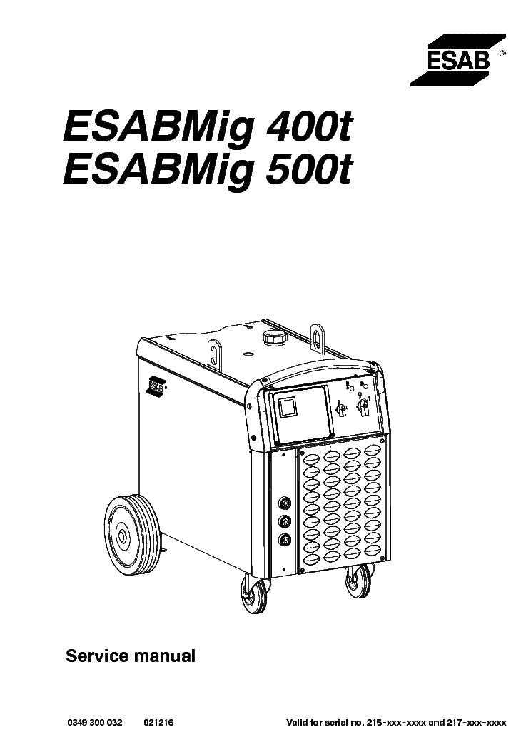 esab mig 400t esabmig 500t service manual download schematics rh elektrotanya com Esab Mig Welder Parts Esab Mig Welder Parts
