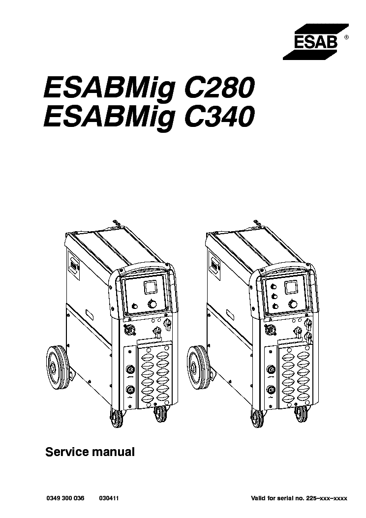 esab mig c280 esabmig c340 service manual download  schematics  eeprom  repair info for