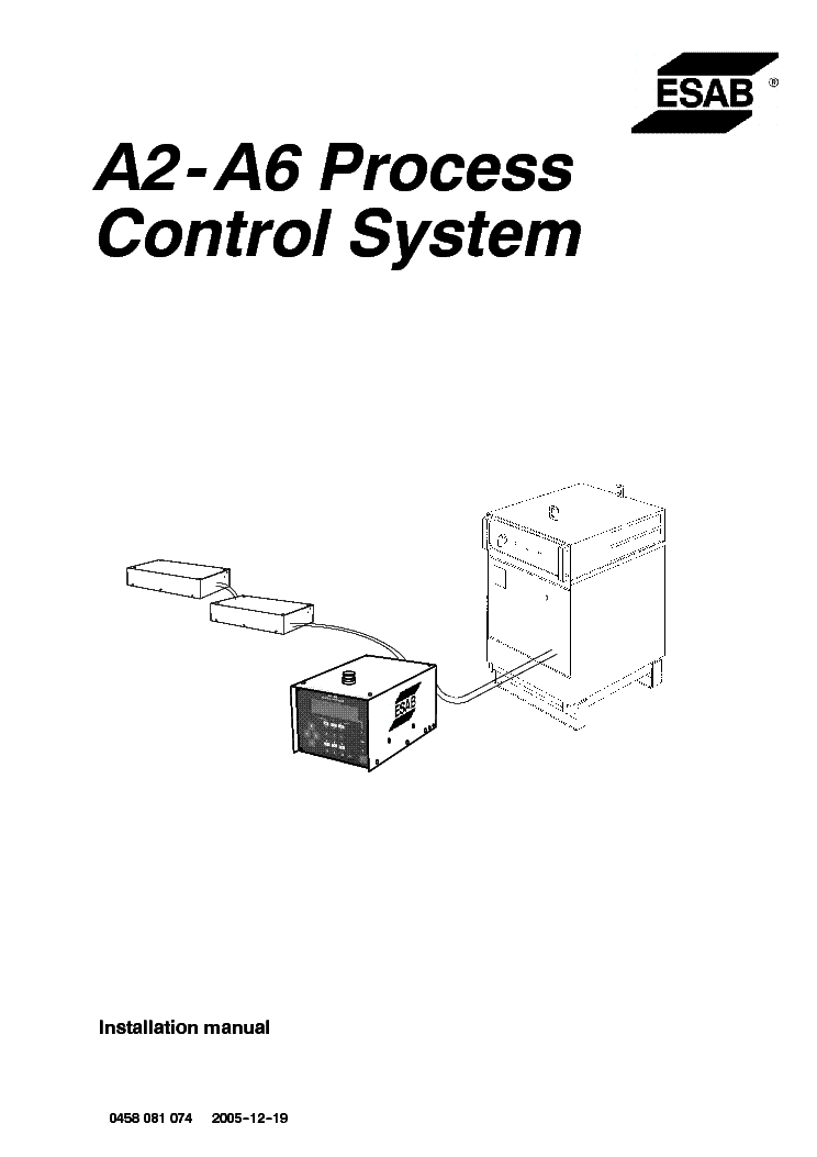 esab origot aristot a2 a6 process control system service manual download  schematics  eeprom