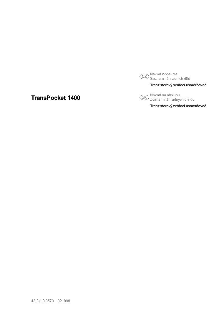fronius transpocket 1400 service manual
