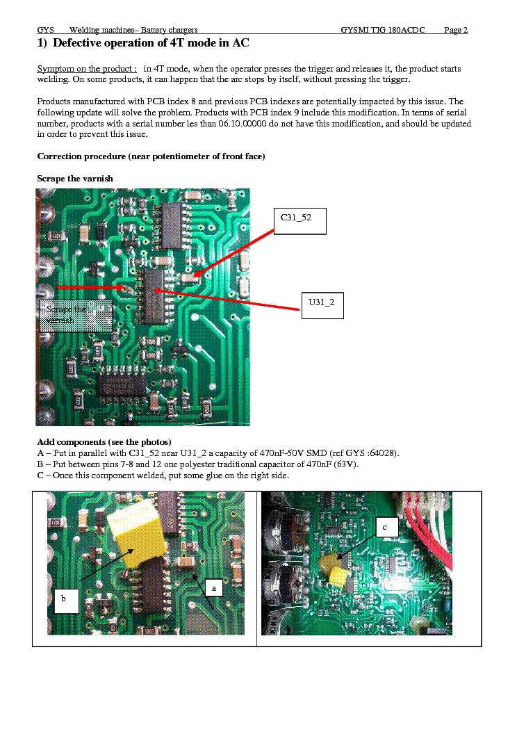 Gysmi Tig 180 Ac Dc Inverter Sm Update Service Manual