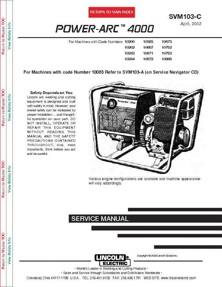 lincoln electric svm103 c power arc 4000 service manual lincoln electric svm103 c power arc 4000 service manual schematics eeprom repair info for electronics
