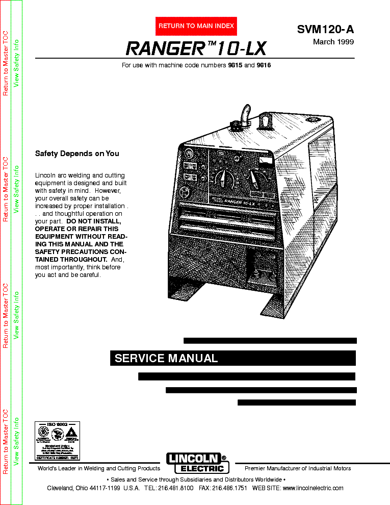 LINCOLN ELECTRIC SVM160B POWER MIG 300 Service Manual download – Lincoln Idealarc Wiring Diagram