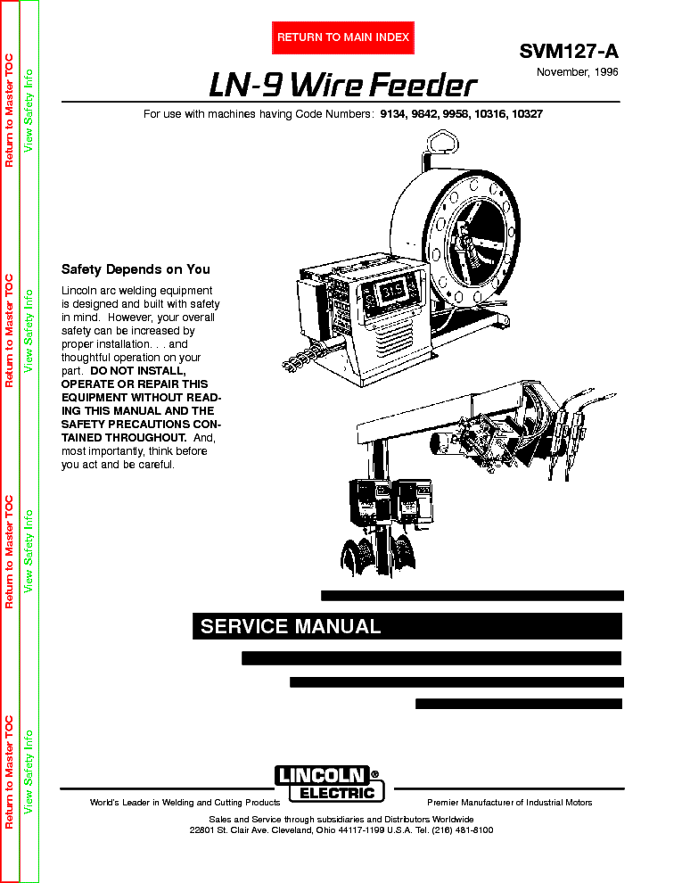 Lincoln Electric Svm127a Ln9 Wire Feeder Service Manual 1st Page: Lincoln Ln7 Wire Feeder Wiring Diagram At Hrqsolutions.co
