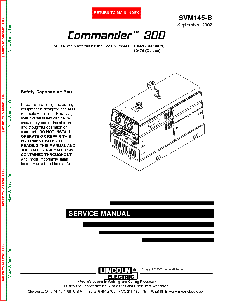 lincoln electric svm145 b commander 300 service manual download Electrical Wiring Diagrams lincoln electric svm145 b commander 300 service manual (1st page)