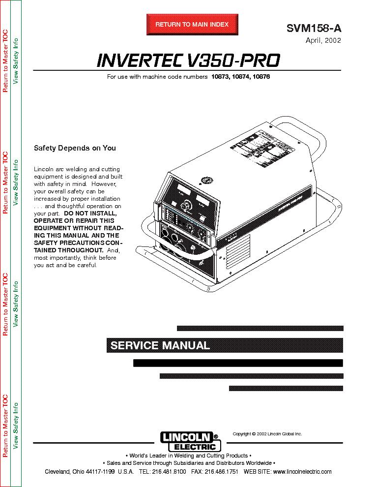 Invertec V350-pro инструкция - фото 2