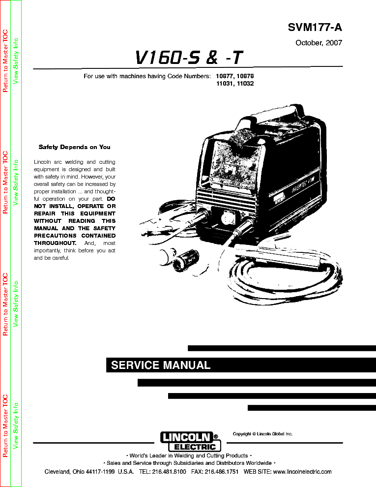 lincoln electric svm177 a v160 s t service manual download